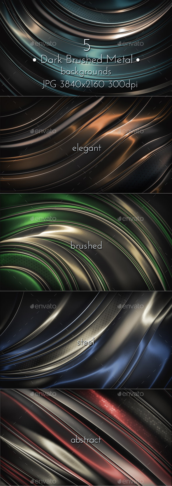Dark Brushed Metal Surface - Abstract Backgrounds
