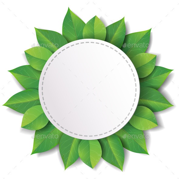 Label with Green Leaves - Flowers & Plants Nature