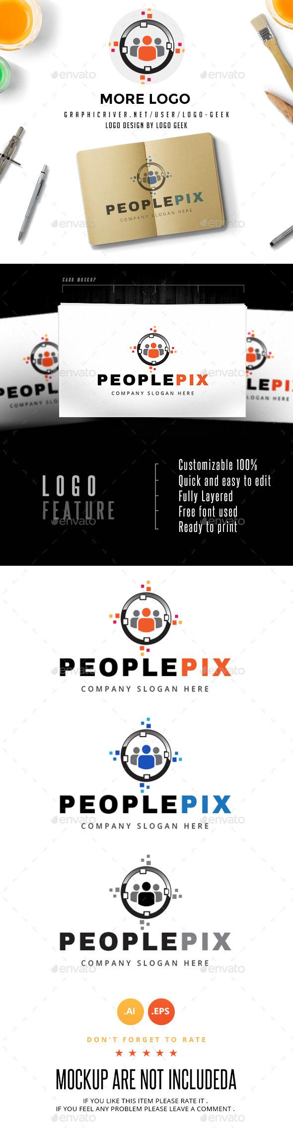 People Pix Logo - Humans Logo Templates