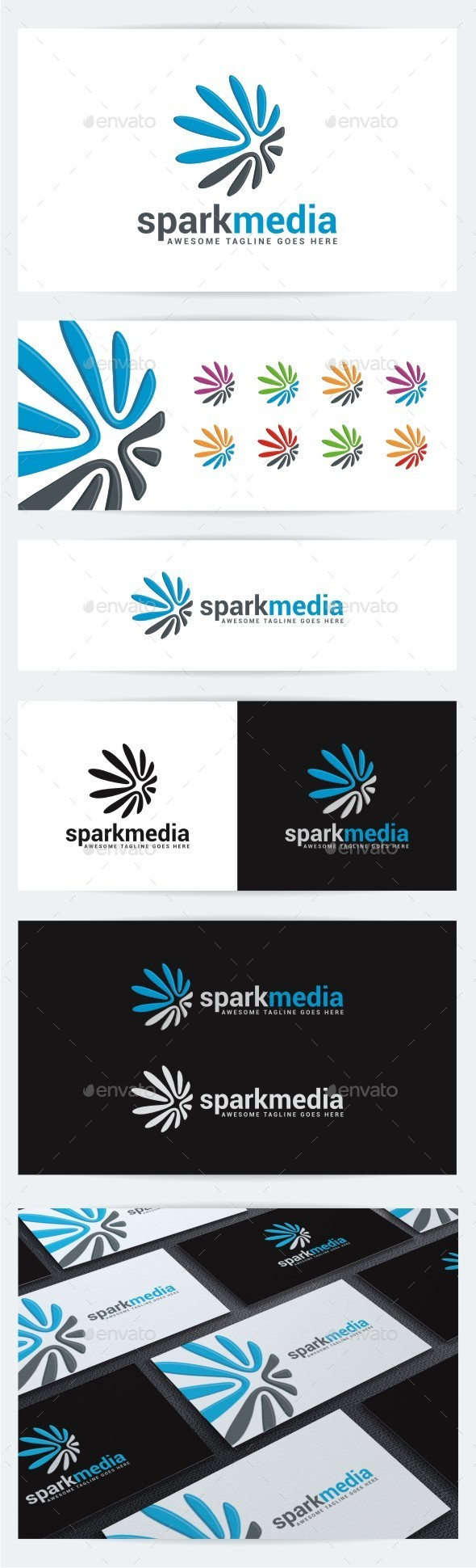 Spark Media - Abstract Logo Templates