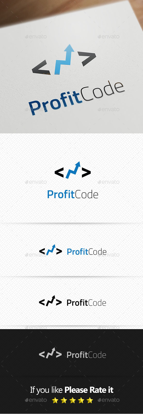 Profit Code Logo Templates - Objects Logo Templates