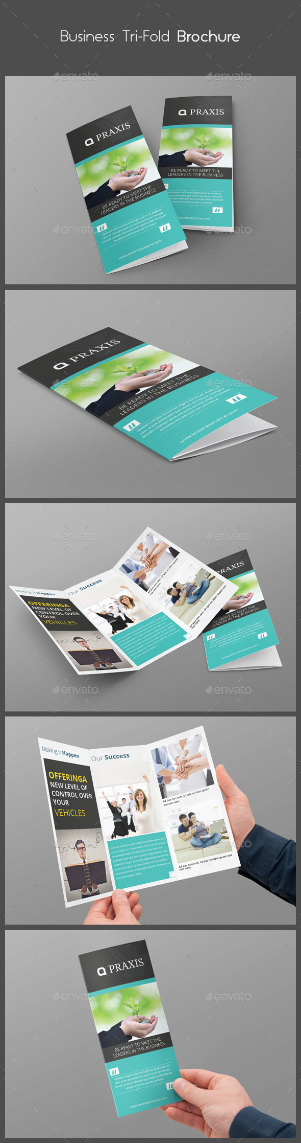 Business Tri-Fold Brochure - Brochures Print Templates