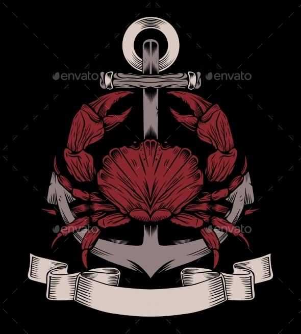 Anchor with Crab - Travel Conceptual