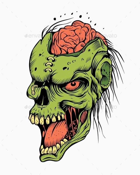 Illustration of a Zombie. - Halloween Seasons/Holidays