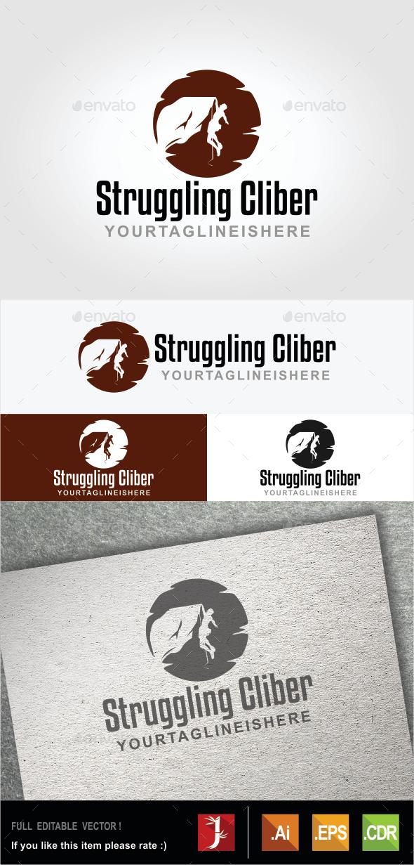 Struggling Climber - Humans Logo Templates