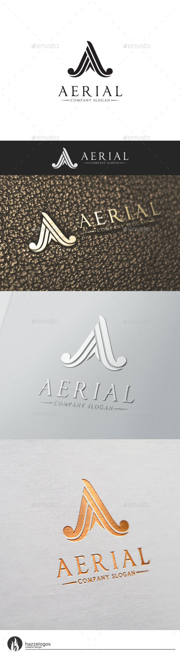 Aerial - Letter A Logo - Letters Logo Templates