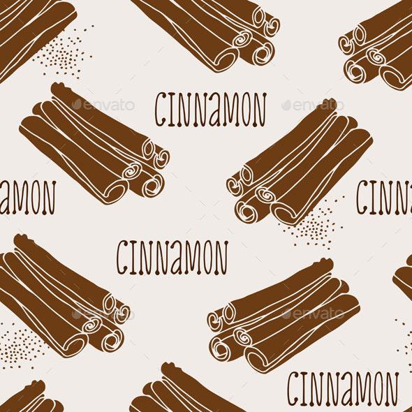 Cinnamon Pattern - Food Objects
