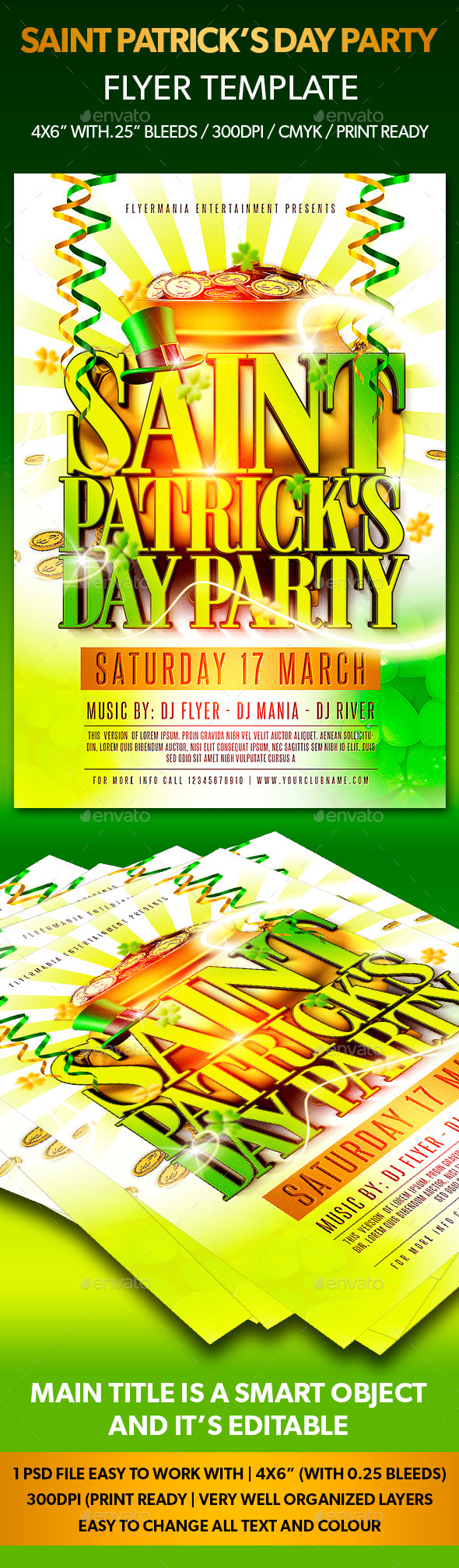 Saint Patrick's Day Party Flyer Template - Flyers Print Templates