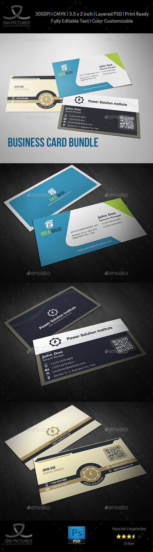 Corporate Business Card Bundle Vol.7 - Business Cards Print Templates