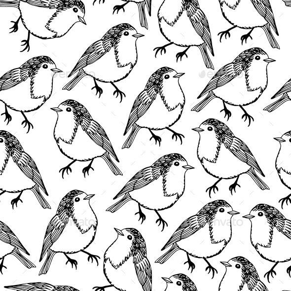 Bird Pattern - Backgrounds Decorative