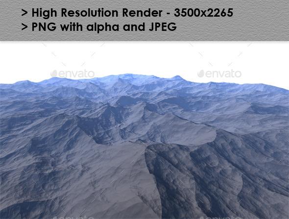 Alien Planet Terrain - Miscellaneous 3D Renders