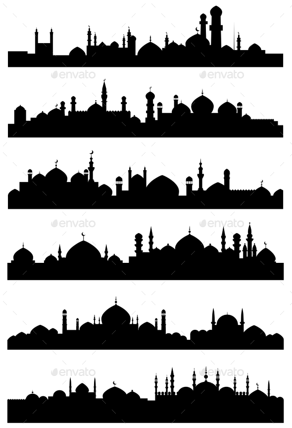 Islamic or Arabic Cityscape - Buildings Objects