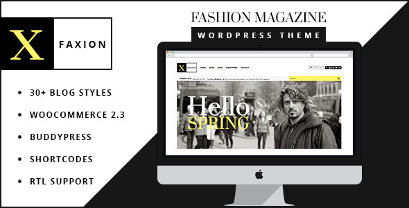 Faxion – Fashion Magazine Theme