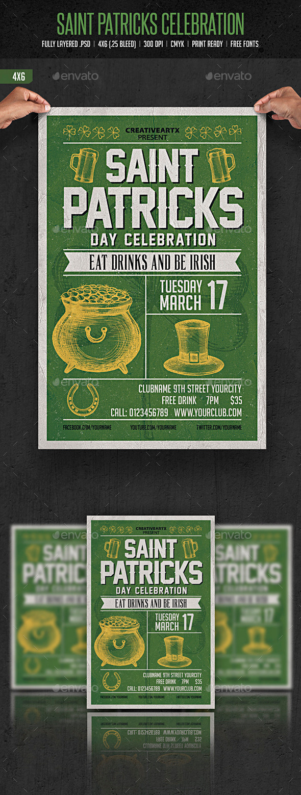 St. Patrick's Day Celebration - Events Flyers