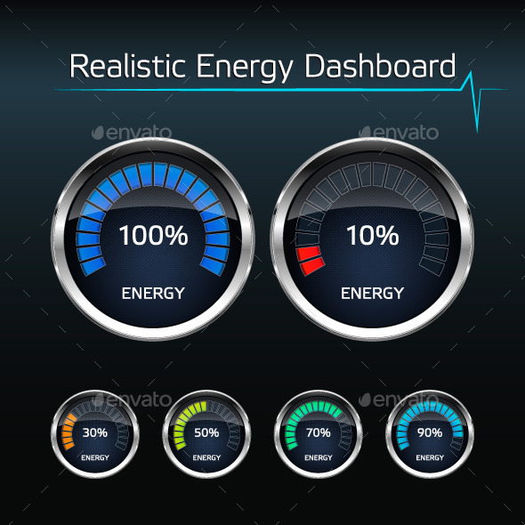 Realistic Energy Dashboard - Miscellaneous Vectors
