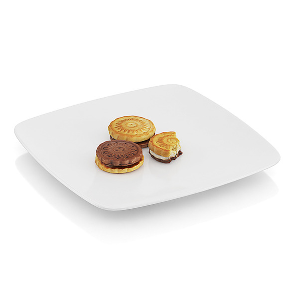 Bitten two-color cookies - 3DOcean Item for Sale