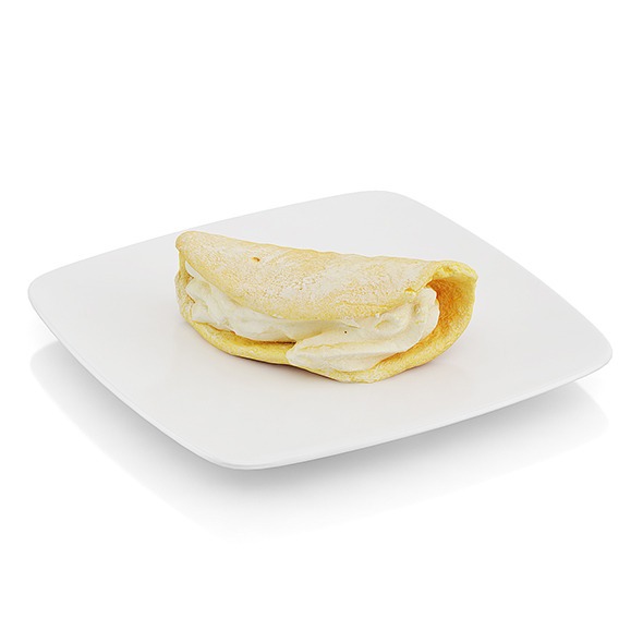 Griddle cake with cream - 3DOcean Item for Sale