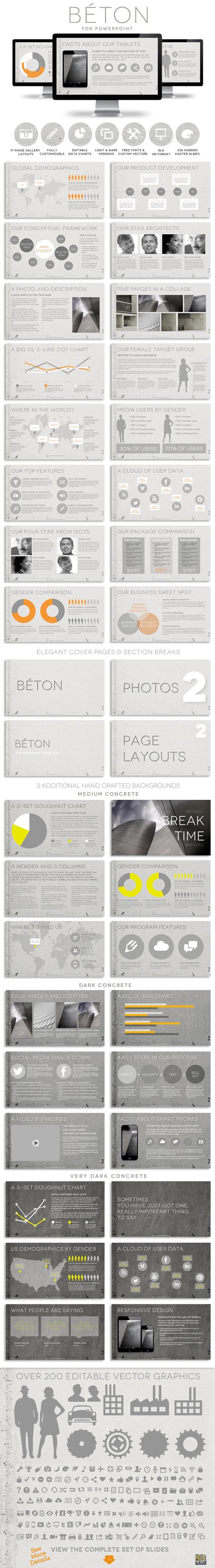 Béton Powerpoint Presentation Template - Creative PowerPoint Templates