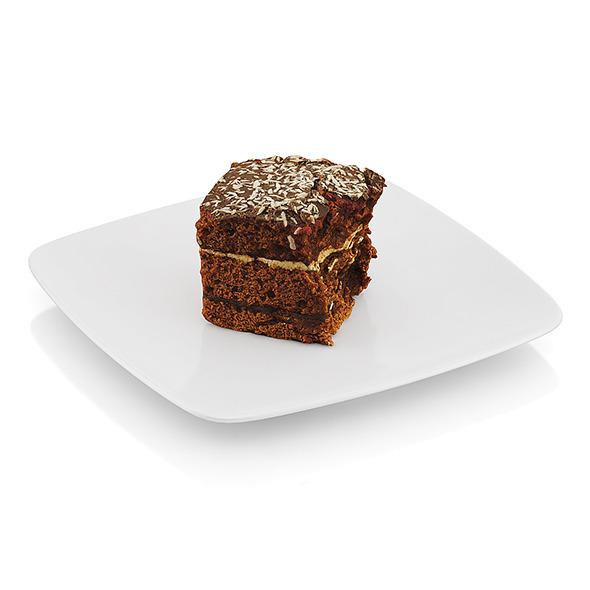 Half-eaten piece of chocolate cake - 3DOcean Item for Sale