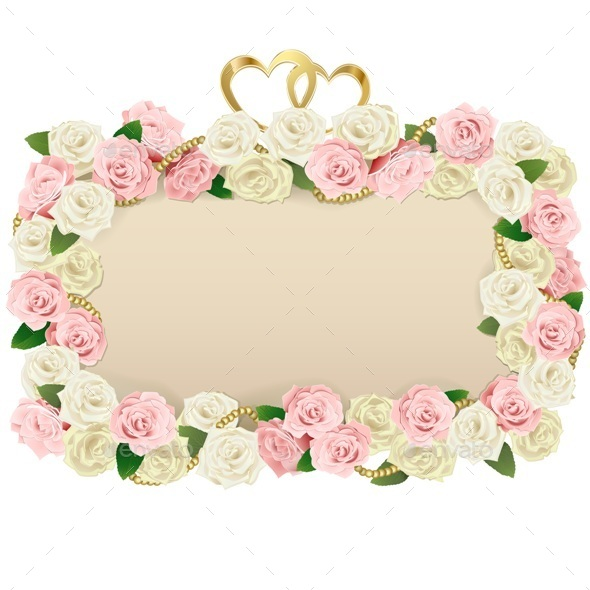 Vector Wedding Flower Board - Weddings Seasons/Holidays