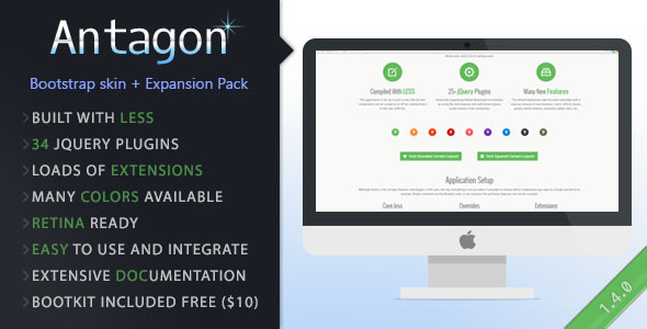 Antagon - Multifunctional Bootstrap Skin - CodeCanyon Item for Sale