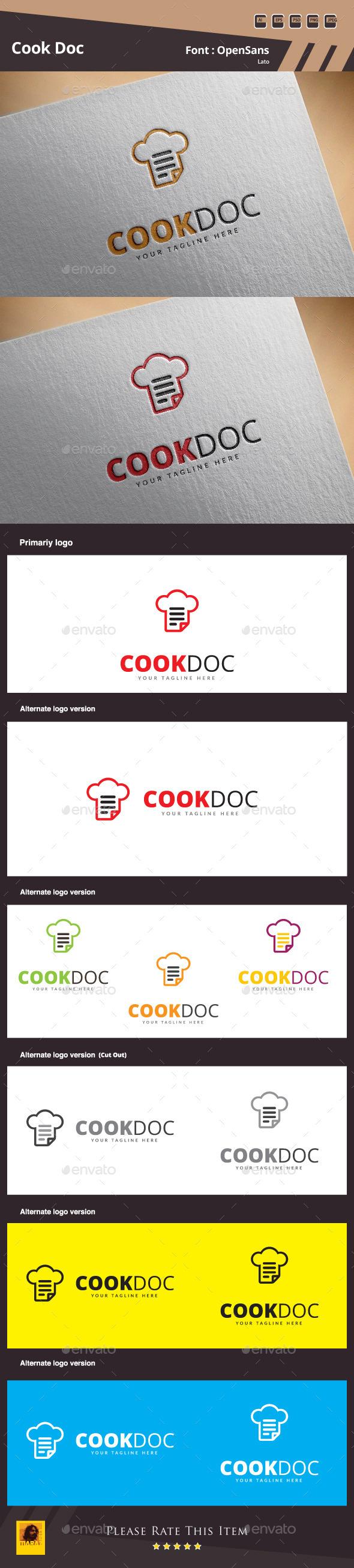Cook Doc Logo Template - Food Logo Templates