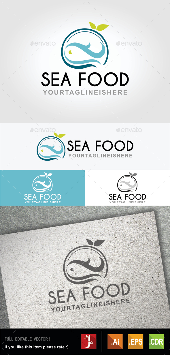 Sea Food - Food Logo Templates