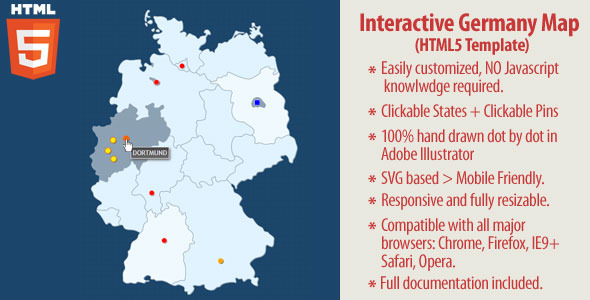 Interactive Map Of Germany HTML By Art CodeCanyon - Germany clickable map