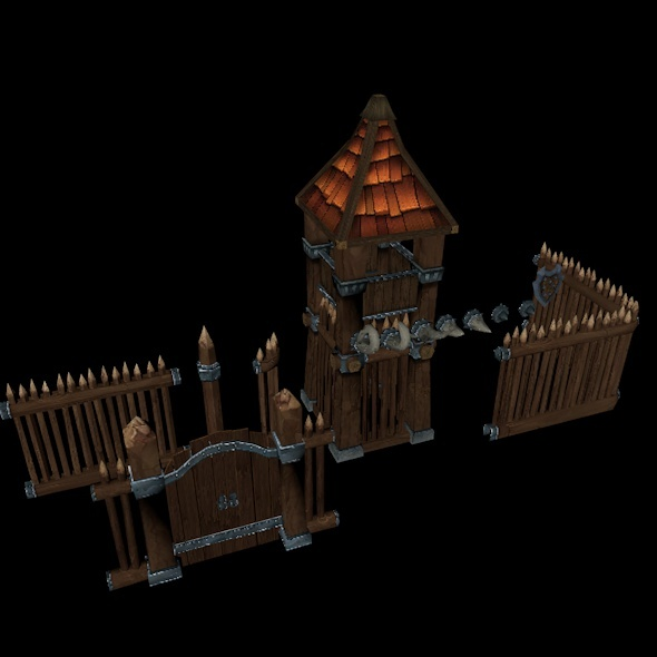 Wooden Fortress - 3DOcean Item for Sale