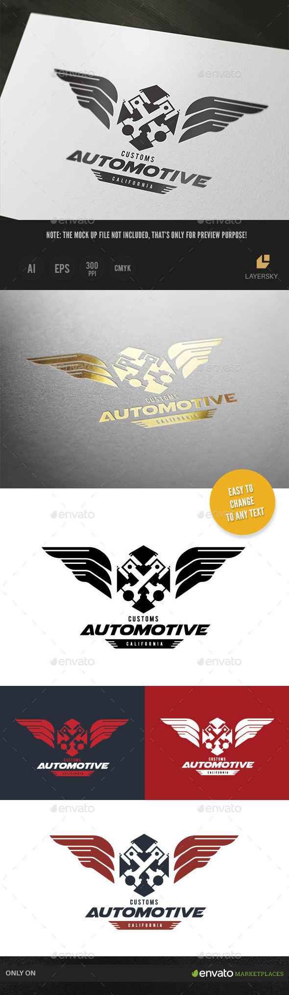 Custom Automotive - Crests Logo Templates