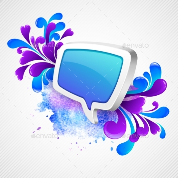 Speech Bubble and Swirling Pattern - Decorative Symbols Decorative