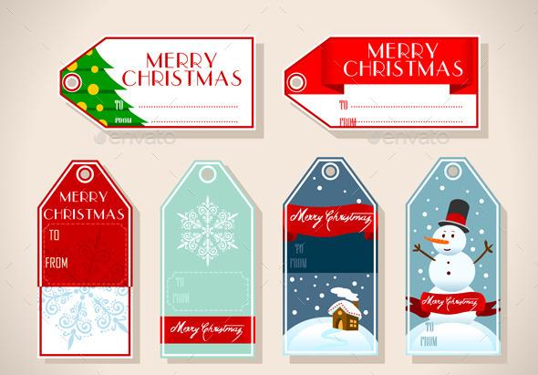 Set of Six Christmas Placeholder Gift - Christmas Seasons/Holidays