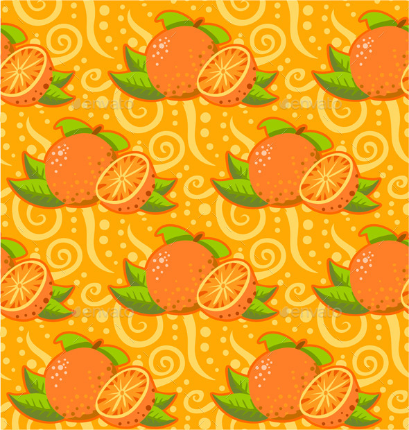 Pattern with Two Orange - Patterns Decorative