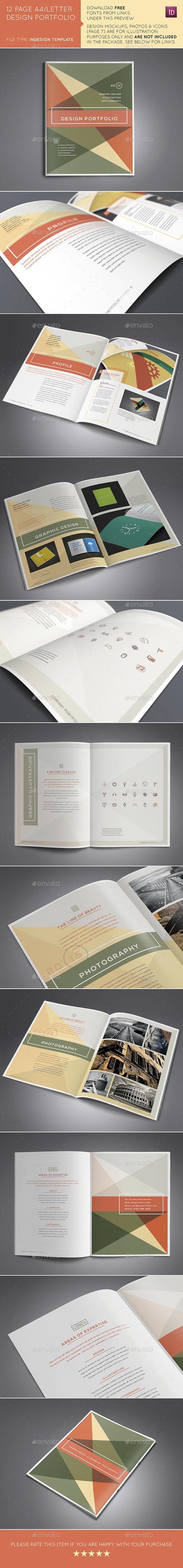 12 Page A4/US Design Portfolio/Brochure - Portfolio Brochures