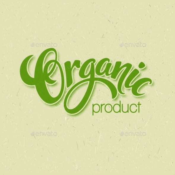 Title Organic. Vector Handmade Lettering - Miscellaneous Vectors