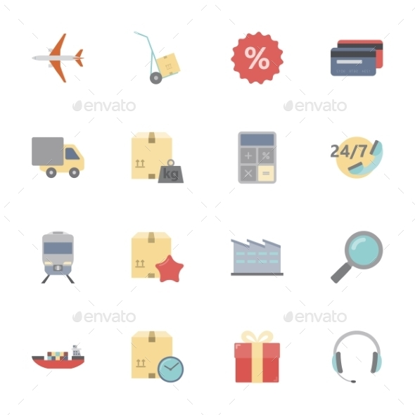 Logistics Icons  - Travel Conceptual