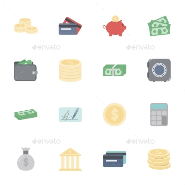 Money and Financial Icons  - Retail Commercial / Shopping