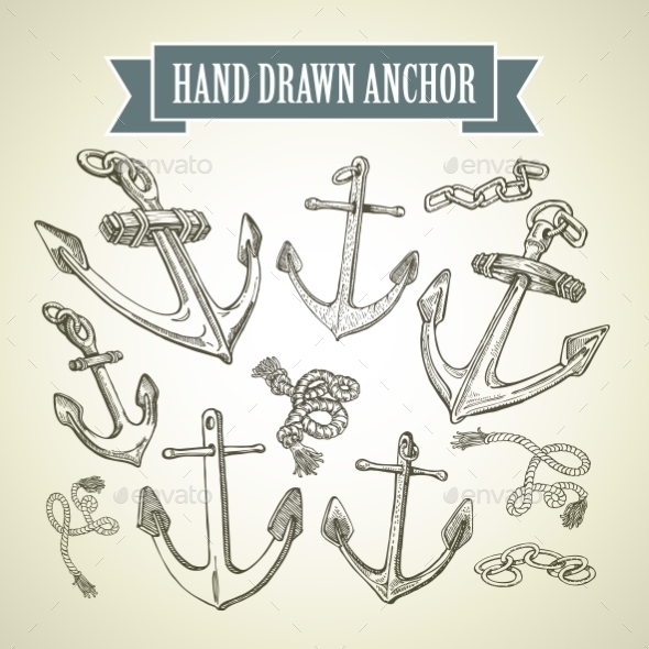 Hand Drawn Anchor - Travel Conceptual