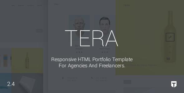 Tera – Responsive HTML5 Portfolio Template