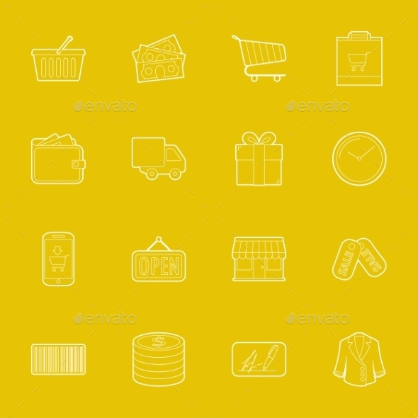 Shopping Icons  - Retail Commercial / Shopping