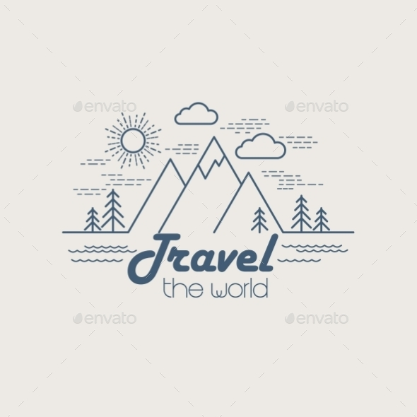 Linear Travel Landscape  - Travel Conceptual
