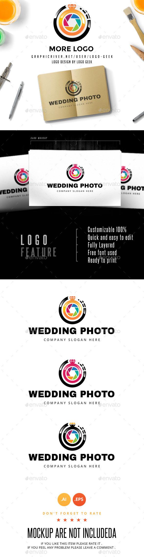 Wedding Photo Logo - Objects Logo Templates