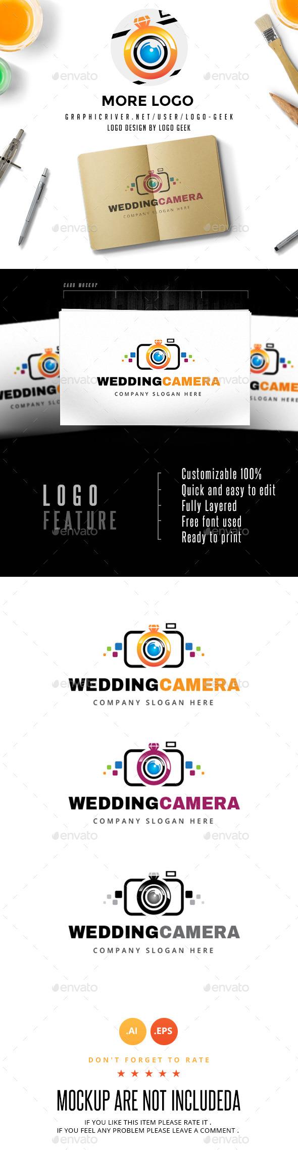 Wedding Camera Logo - Objects Logo Templates