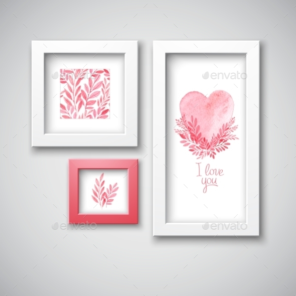 Valentine's Day Frames  - Valentines Seasons/Holidays