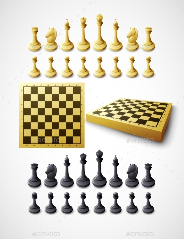 Chess Set  - Objects Vectors