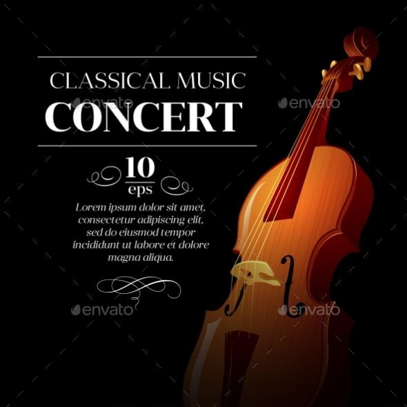 Classical Music Concert Poster  - Miscellaneous Vectors