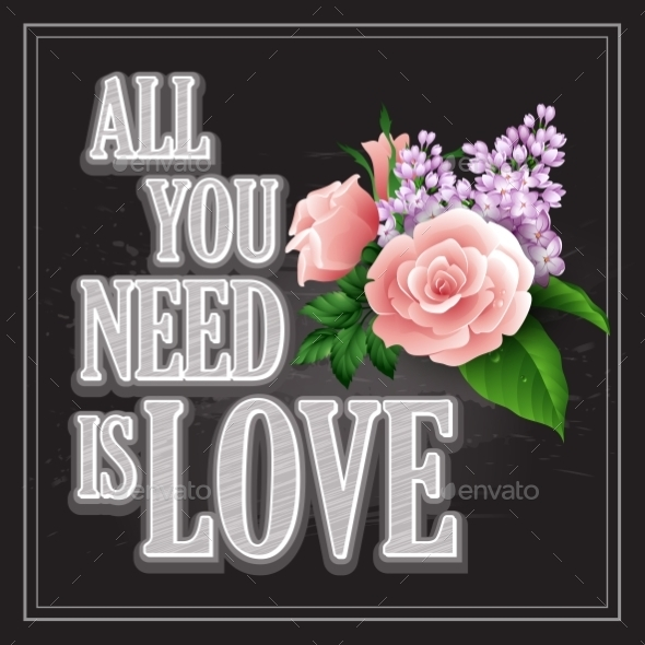 All You Need is Love Poster  - Weddings Seasons/Holidays