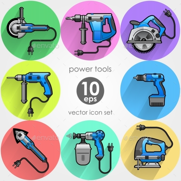 Power Tool Set - Objects Vectors