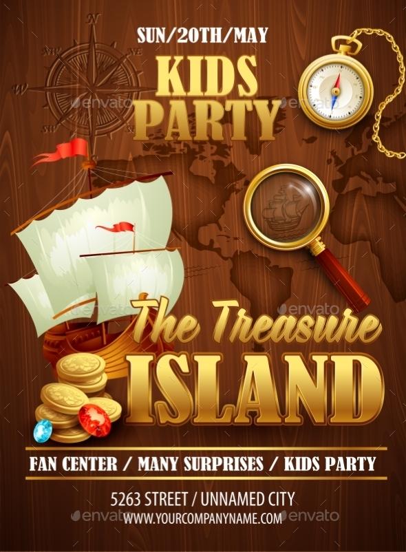 Treasure Island Poster  - Travel Conceptual