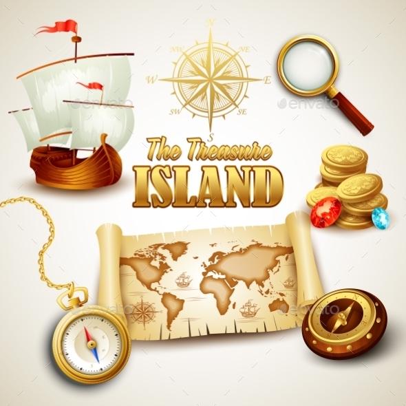 Treasure Island - Travel Conceptual